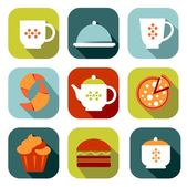 Food symbols set — Stock Vector