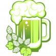 Green beer — Stock Vector #67132107