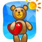 Bear with heart — Stock Vector #72005935