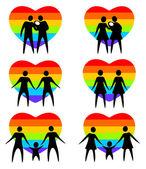 Gay family — Stock Vector