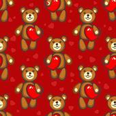 Bears seamless pattern — Stock Vector