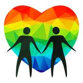 Gay couple — Stock Vector