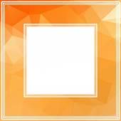 Orange border — Stock Vector