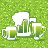 Beer and clover — Stock Vector