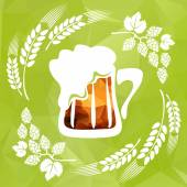 Hop and beer — Stock Vector