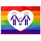 Gay family symbol — Stock Vector