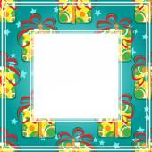 Gift boxes border — Stock Vector