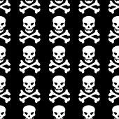 Skull seamless pattern — Stock Vector