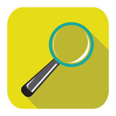 Magnifying glass icon — Stock Vector