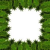 Christmas frame of fir branches — Stock Vector