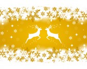 Reindeer with stars, snowflakes and glitter — Stock Vector