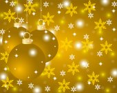 Golden Christmas background with Christmas balls — Stock Vector