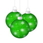 Kerstballen op een witte achtergrond — Stockvector
