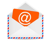 Letter to the e-mail symbol — Stock Vector
