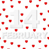 FEBRUARY 14 Valentine's Day — Stock Vector