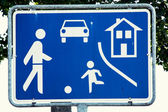 Residential zone sign — Stock Photo