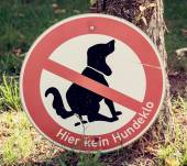 Dog excrement to ban — Stock Photo