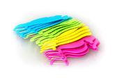 Set of colorful dental floss sticks — Stock Photo