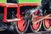 Détail de roues pour le train vapeur — Photo