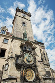 Old town hall with astronomical clock in Prague — Stock Photo