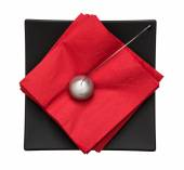 Napkin holder with paperweight - view from above — Foto de Stock