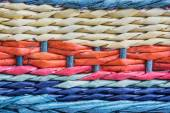 Colorful wicker basket detail — Stock Photo