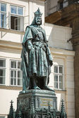Charles IV statue in Prague — ストック写真