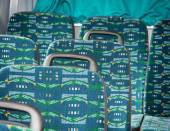 Seats in the bus — Stock Photo
