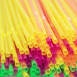 Colored drinking straws background — Stock Photo #76942323
