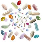 Rain of pills — Stock Photo