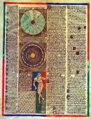 Vintage astronomical map — Stock Photo