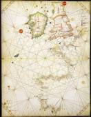 Old naval map — Stock Photo