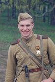 Historical reenactment of WWII — Stock fotografie
