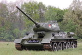 Old Russian tank T-34 — Stock Photo