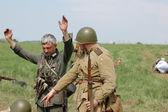 Historical reenactment of WWII — Стоковое фото