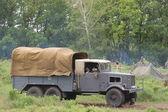 Rekonstrukcji historycznej o Ii wojnie światowej — Zdjęcie stockowe