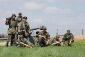 第二次世界大战历史旧时重现 — 图库照片