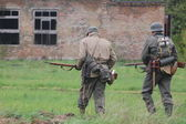 Historical reenactment of WWII — Foto Stock