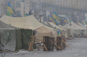 Kiev during Revolution of Dignity — Foto de Stock