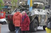 Kiev during Revolution of Dignity — Stock Photo