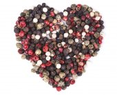 Isolated Pepper Heart — Stock Photo