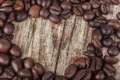 Coffee Heart on Wood — Stock Photo