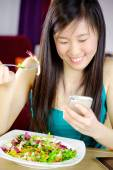 I can't stop texting — Stock Photo