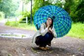 Mladá žena se obává — Stock fotografie