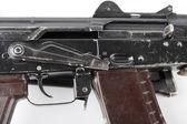 Kalashnikov rifle. Third safety lever position. — Stock Photo