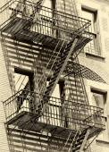Building with fire escape — Stock Photo