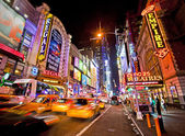 Times Square and 42nd Street — Stock Photo