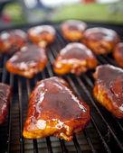 BBQ chicken thighs — Stock Photo
