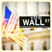 Wall street sign in New York — Stock Photo