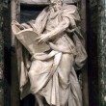 Statue of Matthew the apostle — Stock Photo #58158429